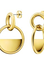 Calvin Klein Calvin Klein - Boucles d'Oreilles Verrouillées Plaquées en Or