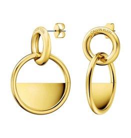 Calvin Klein Calvin Klein - Gold Plated Locked Earrings