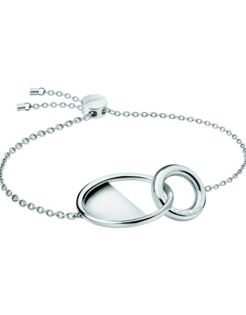 Calvin Klein Calvin Klein - Bracelet Verrouillé Plaqué en Argent