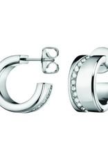 Calvin Klein Calvin Klein - Boucles d'Oreilles à Crochet en Cristal Blanc en Acier Inoxydable