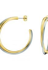 Calvin Klein Calvin Klein - Two-tone steel/gold plate Double Hoop Earrings