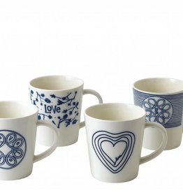 ED by Ellen Degeneres ED - Ellen Degeneres Blue Love Mug Set/4 Mixed