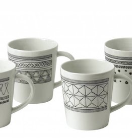 ED by Ellen Degeneres ED - Ellen Degeneres Charcoal Grey Mug Set/4 Mixed