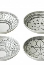 "ED by Ellen Degeneres ED - Ellen Degeneres Charcoal Grey Bowl 5.5"" Set/4 Mixed"