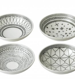 "ED by Ellen Degeneres ED - Ellen Degeneres Charcoal Grey Bowl 5.5"" Set/4 Mixed"
