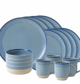 ED by Ellen Degeneres ED - Ellen Degeneres Polar Blue Brushed Glaze 16 Piece Set