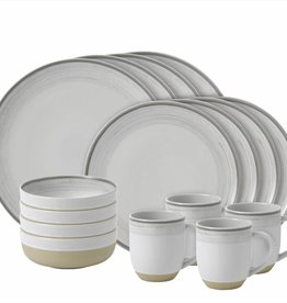 ED by Ellen Degeneres ED - Ellen Degeneres  White Brushed Glaze 16 Piece Set