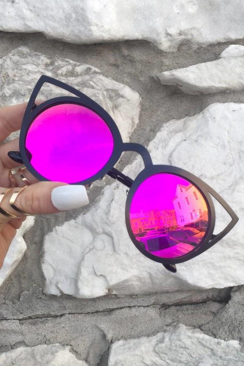 KittyKat Sunnies - Hot Purple