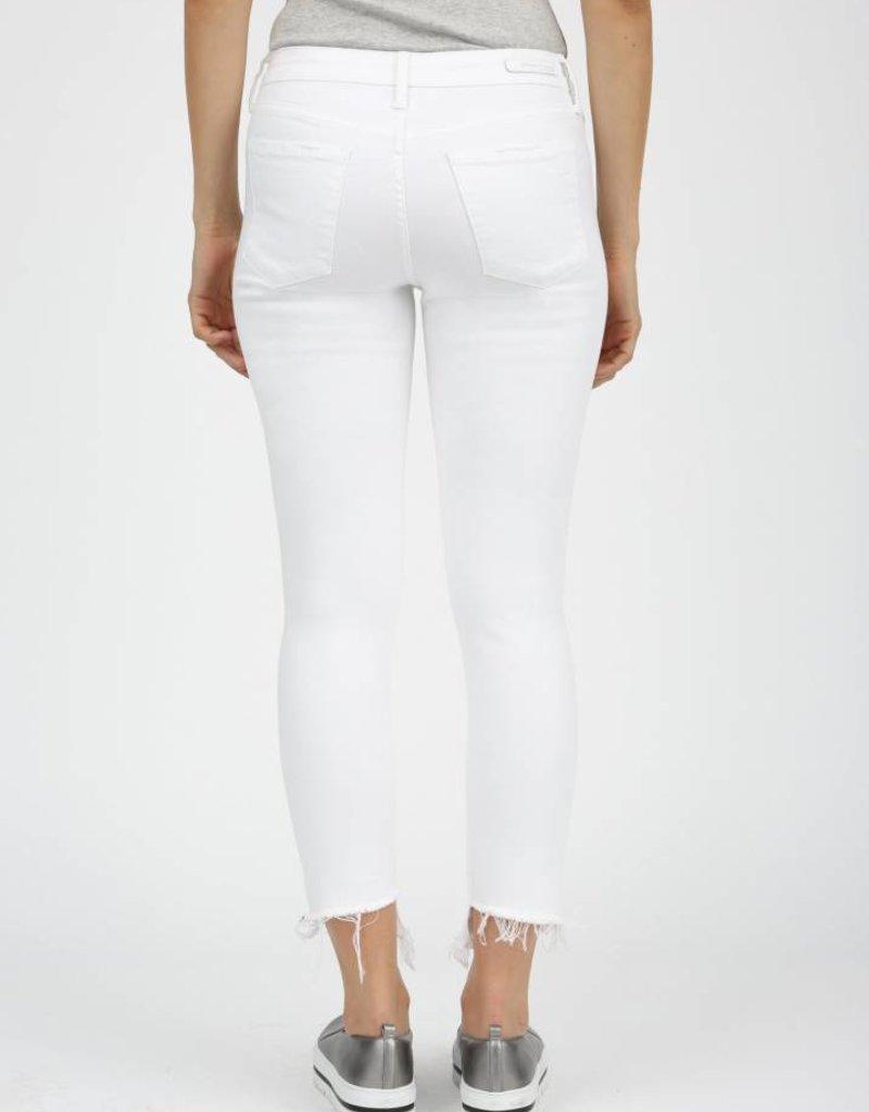 """Suzy Step Hem Skinny"" - Turin/ White"