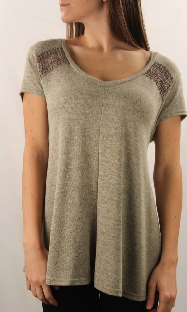 Cap Sleeve Two Toned Top