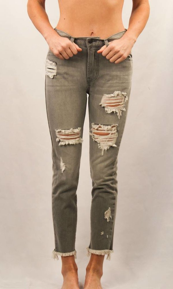 Fray Hem Distressed