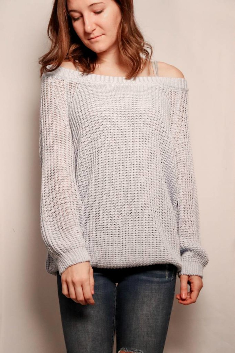 Magnolia Knit Sweater / Robin Egg Blue