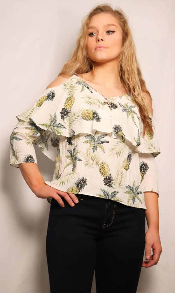 Printed Pineapple Top