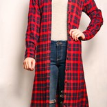 Flannel Button Down Duster