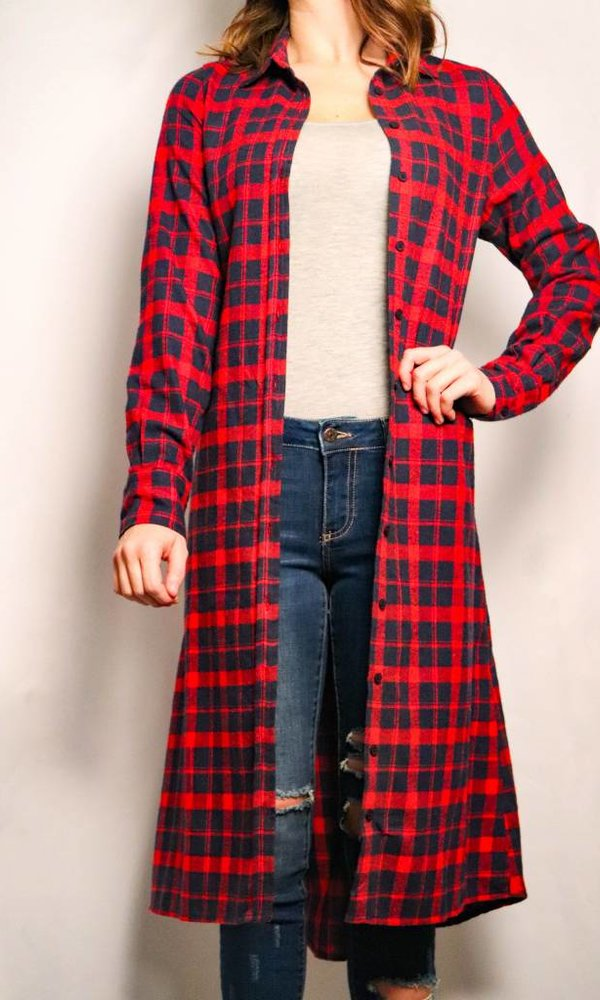 Flannel Duster w/Pockets