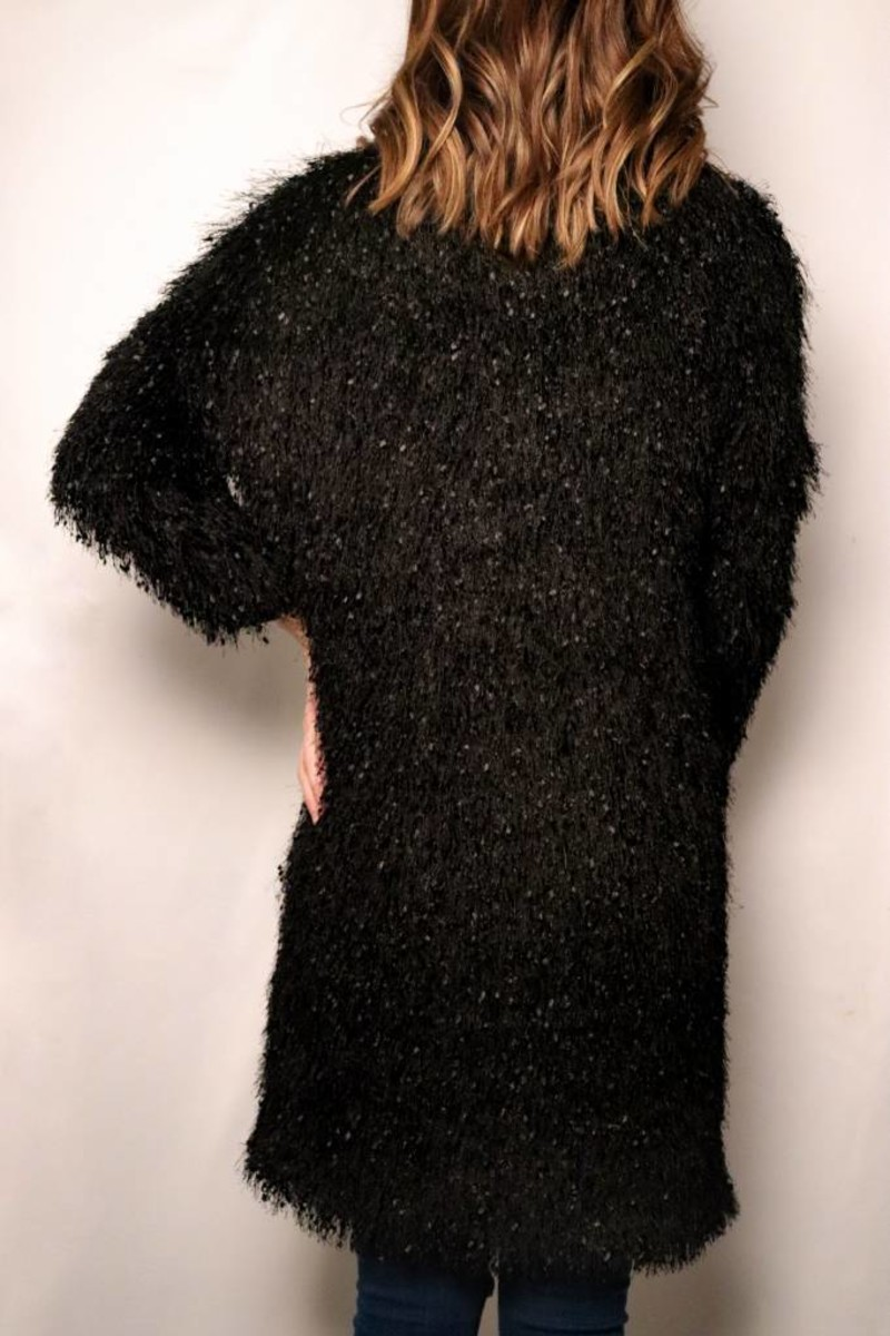 Eyelash Duster Jacket / Black