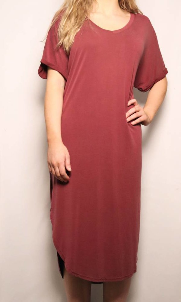 Drop Shoulder T-Shirt Dress