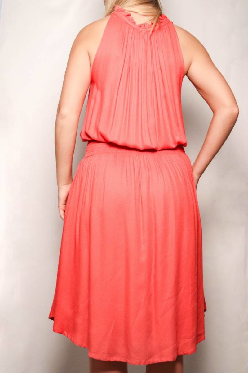655382afb6 Summer Dress with Smocking Coral - Mood Women s Boutique