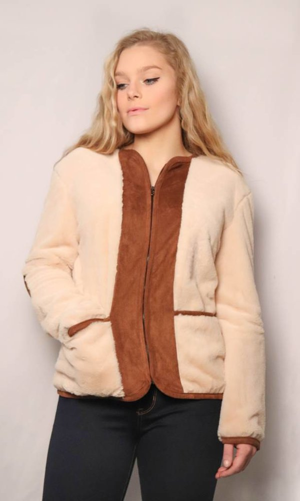 Teddy Bear Fur Jacket