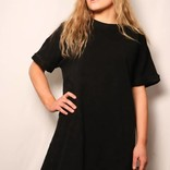 Stone Distressed Tunic Tee / Black