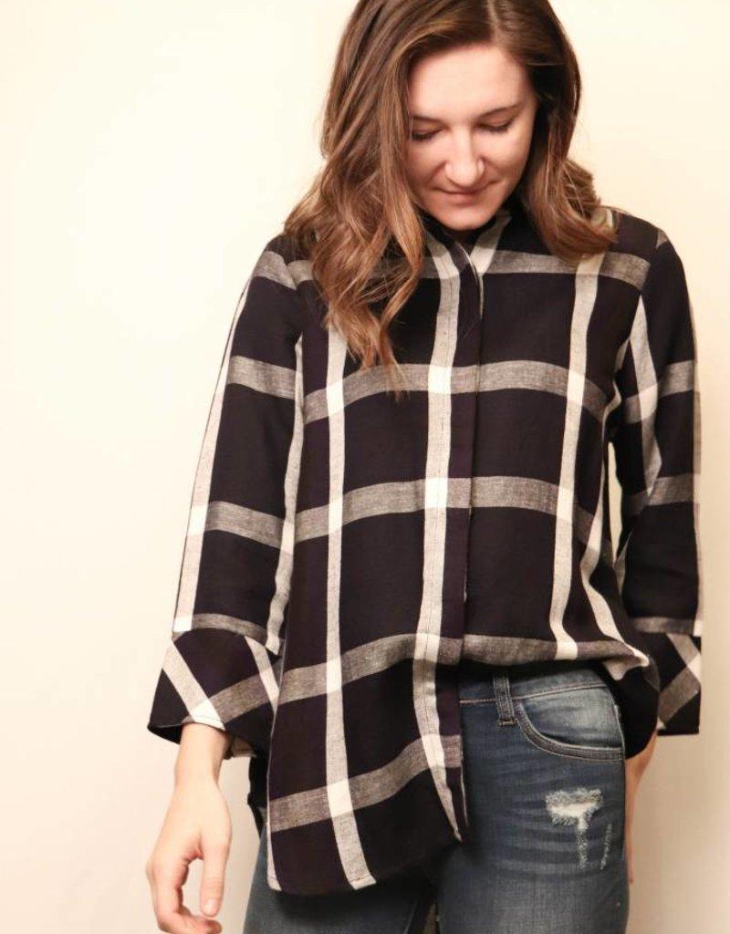 Checkered Flannel Button Down Shirt