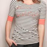 Colorblocked Stripe Tee/ Hello Beautiful/ Navy-Coral