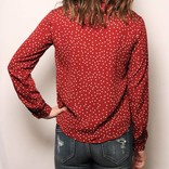 Benny Polka Dot Top /Burgundy