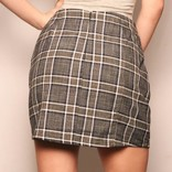 Jae Skirt/ Charcoal Navy White Check