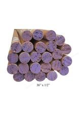 1/2'' Wooden Dowel Purple