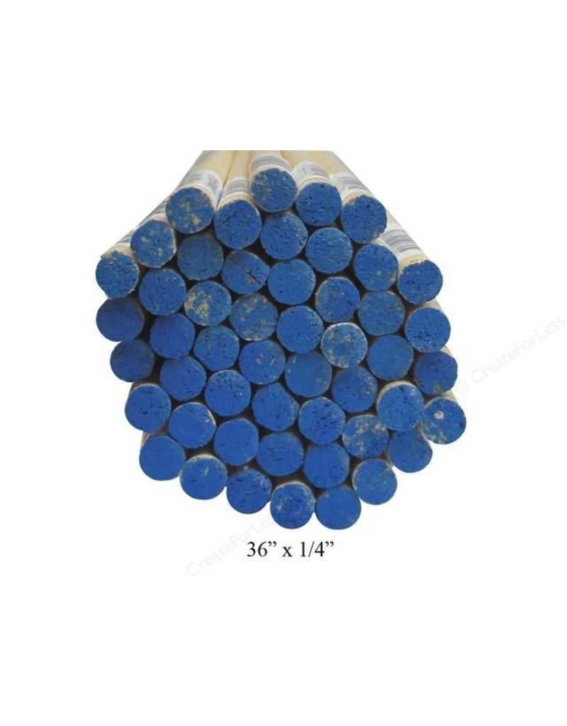 Wood 1/4'' Wooden Dowel Blue