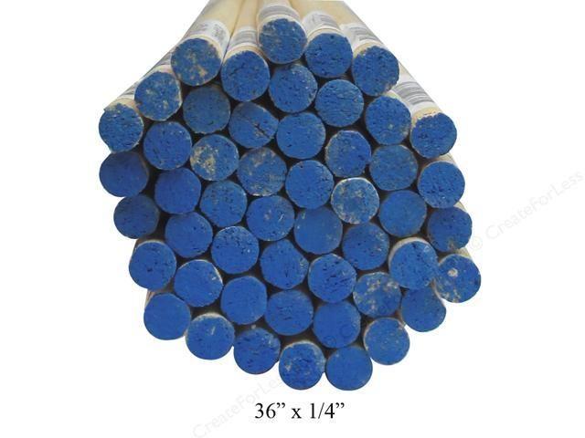 Wood 1/4'' Wooden Dowel Blue