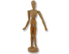 16in Wooden Manikin