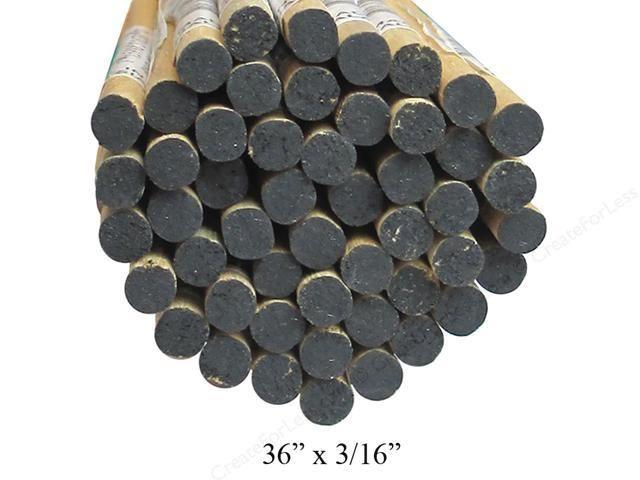Wood 3/16'' Wooden Dowel Black