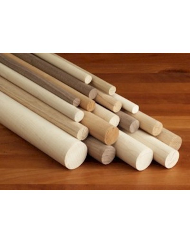 Wood 3/4'' Wooden Dowel Red