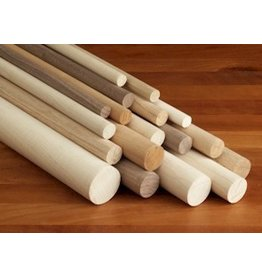 Wood 3/8'' Wooden Dowel White/Orange