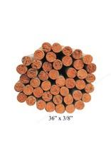3/8'' Wooden Dowel White/Orange