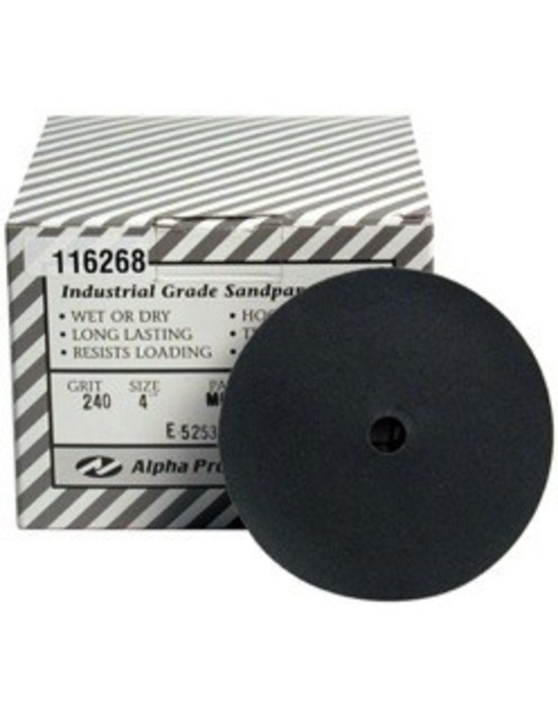Alpha 4'' Sand Disk 240 Grit Box of 50