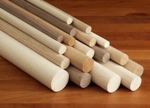 Wood 5/8'' Wooden Dowel Gray