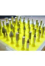 Just Sculpt 50pc Diamond Burr Set 1/8 Shank 120 Grit