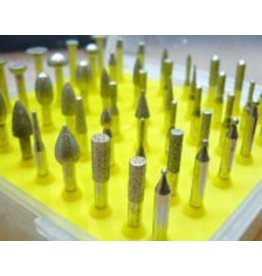 Just Sculpt 50pc Diamond Burr Set 1/8 Shank 120 Grit
