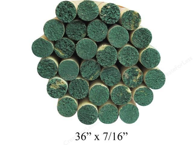 7/16'' Wooden Dowel Green