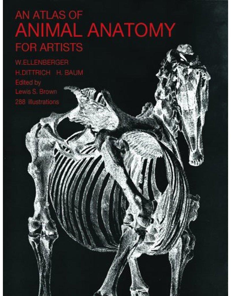 Dover Publications Atlas Of Animal Anatomy Book Ellenberger