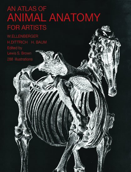 Atlas Of Animal Anatomy Book Ellenberger - The Compleat Sculptor