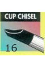 Clay Shaper Black Cup Chisel #16 Clayshaper