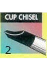 Clay Shaper Black Cup Chisel #2 Clayshaper