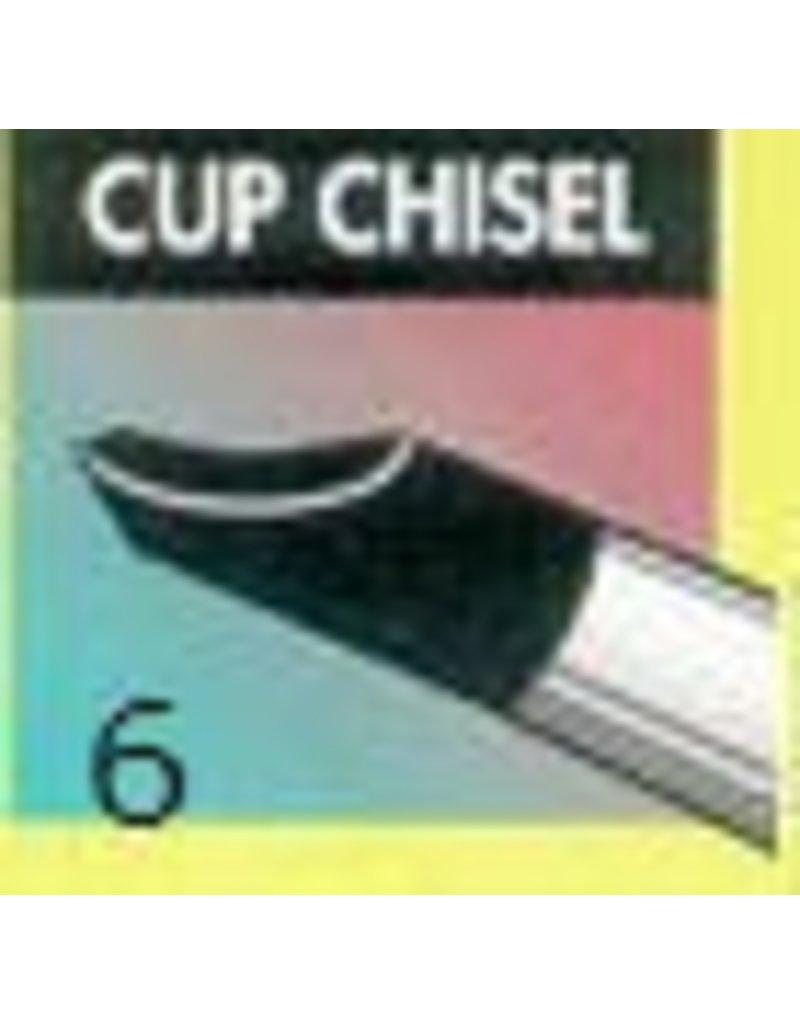 Clay Shaper Black Cup Chisel #6 Clayshaper