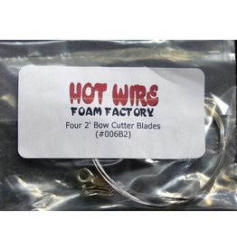 Hot Wire Foam Factory Bow Cutter Blades 2' 4pc