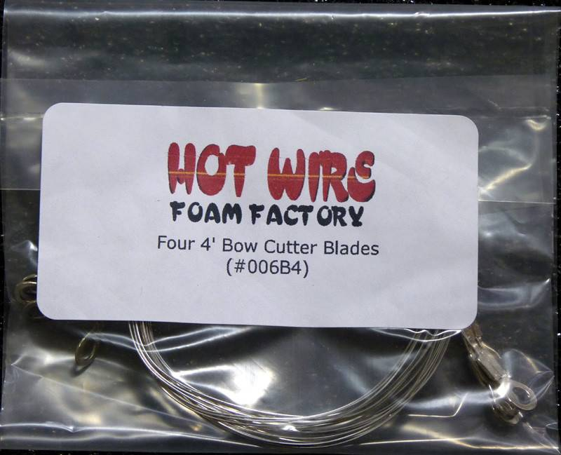 Hot Wire Foam Factory Bow Cutter Blades 4' 4pc