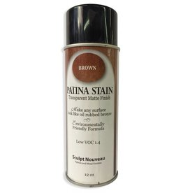Sculpt Nouveau Patina Stain EF Matte Brown 12oz Spray Can