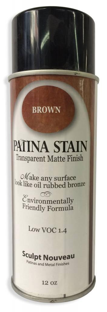 Sculpt Nouveau Patina Stain EF Matte Brown 12oz Spray Can